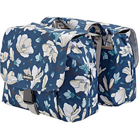 Basil Magnolia S Luggage Carrier Double Bag 25L, teal blue